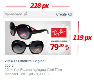 yeni facebook reklam boyutları