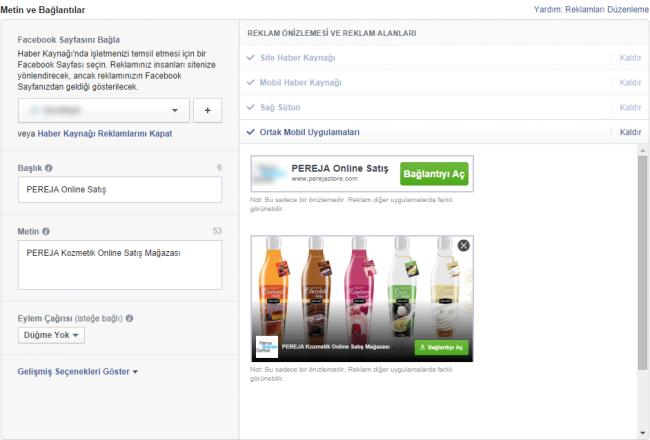 facebook ortak mobil uygulamaları